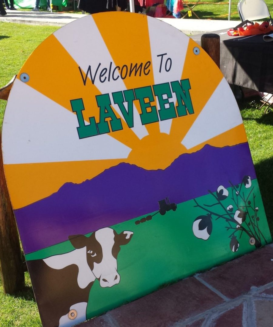 Welcome to Laveen sign