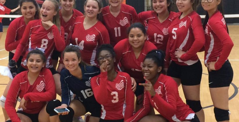 Volley ball team at Heritage Academy in Laveen, AZ.