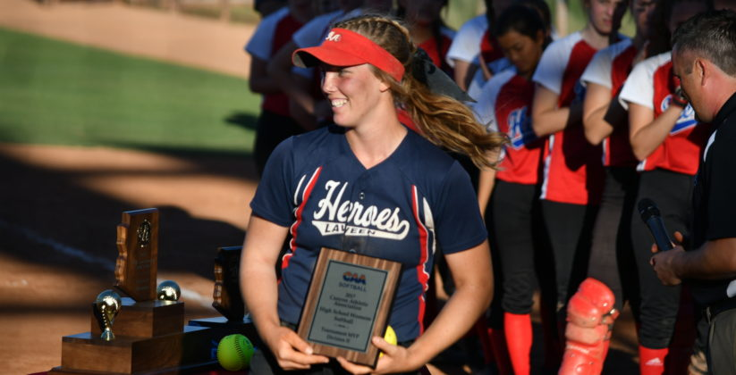 Softball champion at Heritage Academy in Laveen.