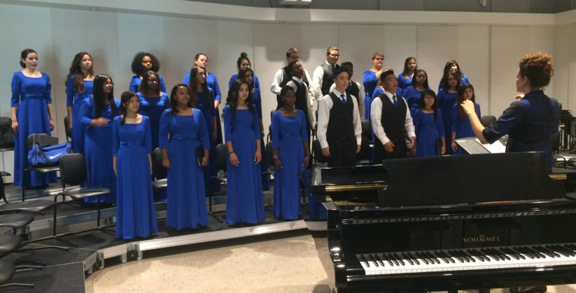 The choir at Heritage Academy in Laveen performs during its festival.