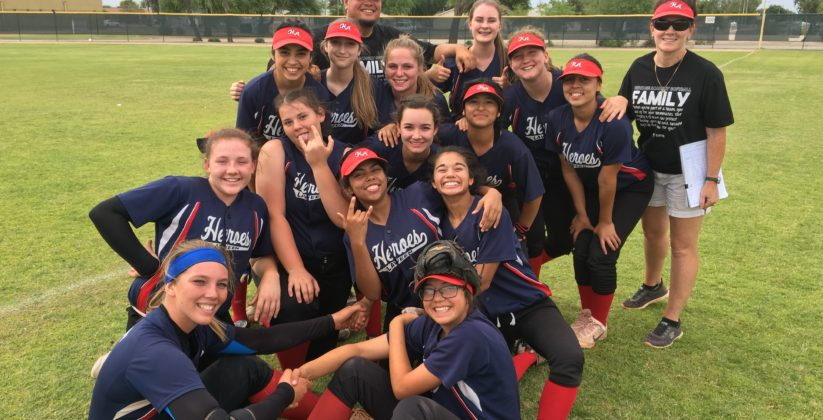 Girls softball at Heritage Academ in Laveen.