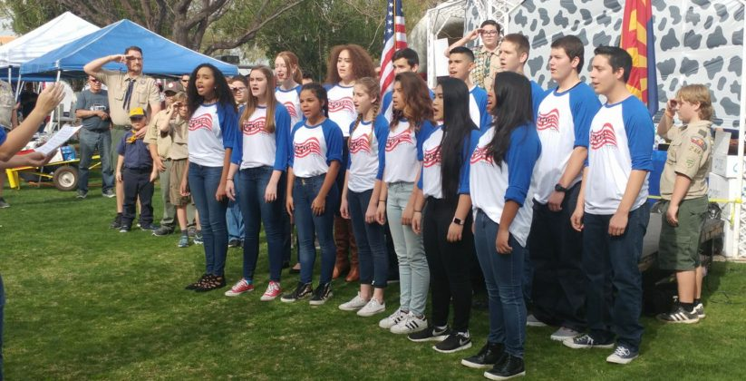 Choir at Heritage Academy in Laveen, AZ.