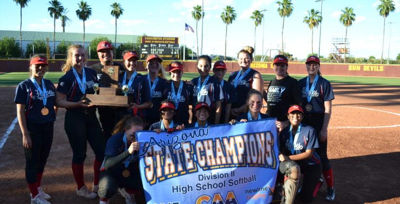 Softball Champions, Heritage Academy in Laveen, AZ.