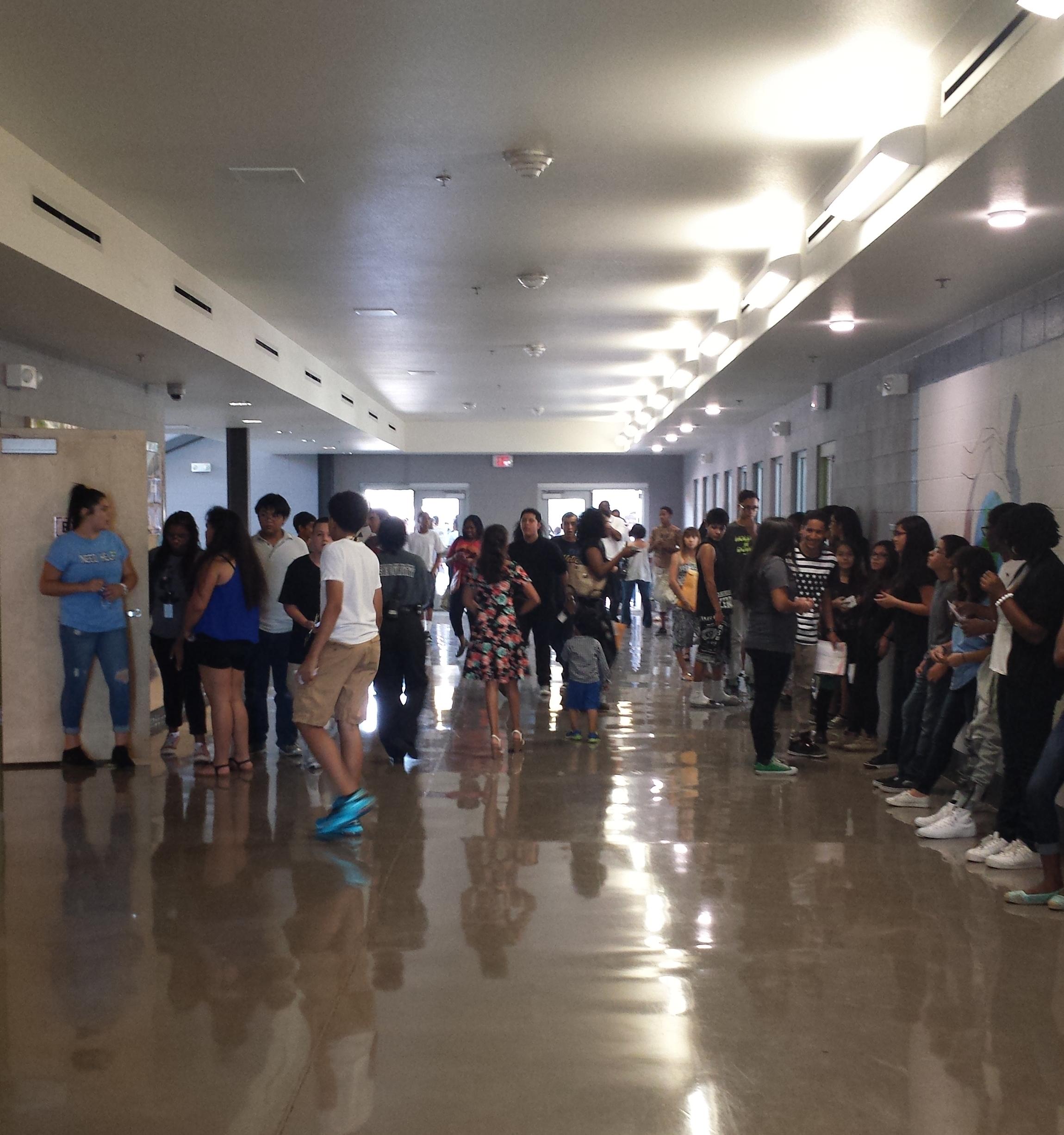 Freshmen orientation in August 2015 at Betty Fairfax High School in Laveen, Arizona.