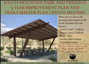 Support the South Mountain Preserve and help plan for its future.