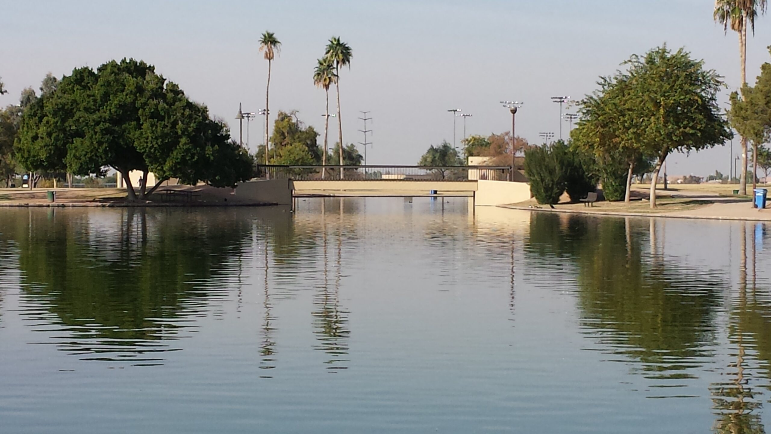 Cesar Chavez Park in Laveen is a local favorite for Laveen residents with a beautiful lake, soccer fields, skate park, dog park, fishing and more. (Photo © AZ Media Maven, LLC)