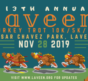 Laveen Community Council is again sponsoring the annual Laveen Turkey Trot on Nov. 28, 2019 at Cesar Chavez